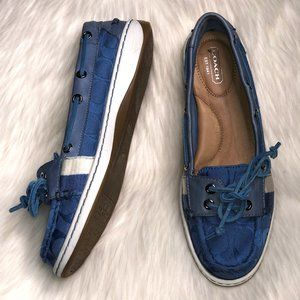 COACH Rainey Signature Boat Shoes Loafers